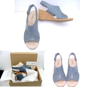 New Clarks Lafley Joy wedge slingback sandal heels